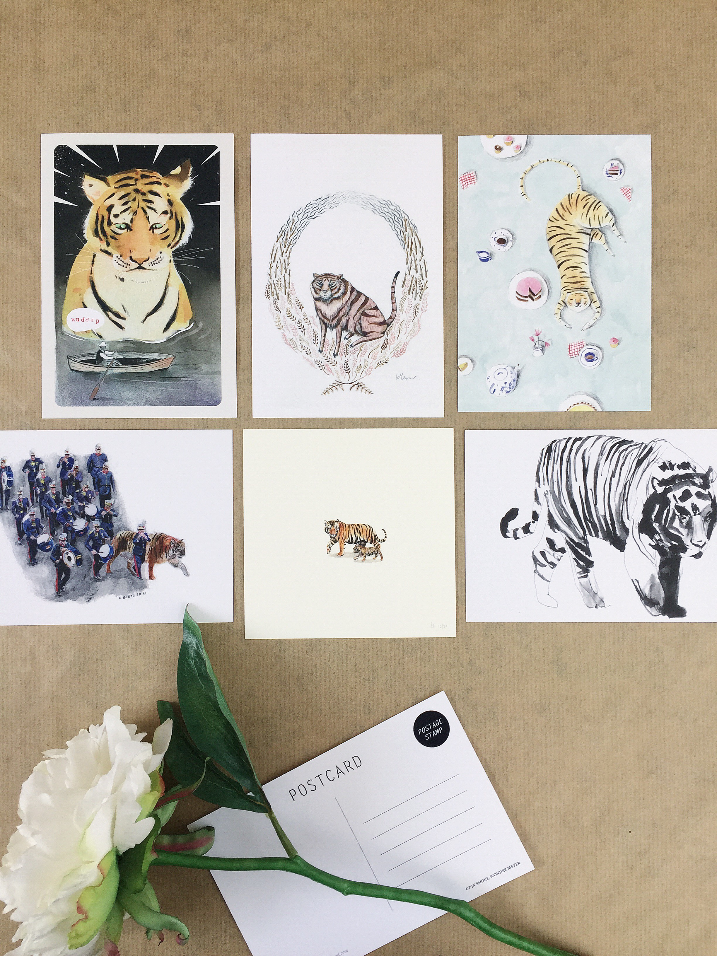 Tiger Postcards